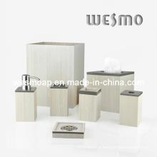Ensemble de bain en bambou à pates blanches (WBB0450A)