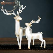 Изготовленный на заказ крытый Размер декоративные жизнь смолаы статуи оленей