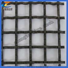 High Quality Black Steel Wire Crimped Mesh (Factory)