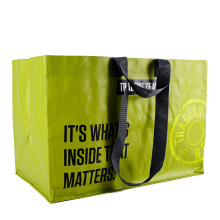 China Manufacturer Custom Reusable Shopping Bag BOPP Laminated Recycled PP Woven Bag with Logo Printed