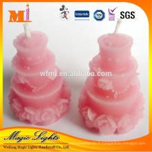 Bougie élégante de décoration en forme de gâteau pour le mariage