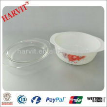 Importer Houseware Vintage Pyrex Libbey Decorative Opal Glassware Casserole Dish With Lid