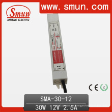 6-12V 2.5A corriente constante LED controlador de tira impermeable a prueba de agua IP67