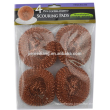 25G 4PK Copper-coated mesh ball scourer stainless steel ball by Yiwu agent