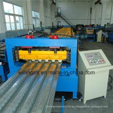 Máquina formadora de rollos en frío para corte de poste de cubierta de piso