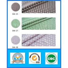 Mille Modèles Vente Chaude 100% Coton Imprimé DOT Toile Tissu en Stock Poids 255GSM Largeur 150 cm