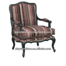 Stripe tecido elegante beleza Lobby sofá cadeira XF1013