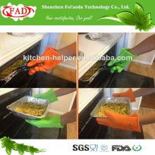 2014 mejor guante del silicio del guante / del silicón de la venta FDA / guante resistente al calor del silicón