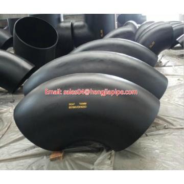 Coude de tuyau en acier noir EN10253 90Deg
