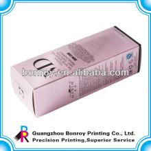 Envasado de caja de perfume de cartón cosmético con laminación brillante