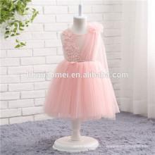 Детей возрастной группы и повседневный Стиль розовый цвет принцесса девушки цветка платья
