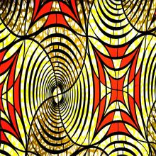 Tissu de polyester de cire super Hollantex imprimé par bloc d'Afrique