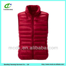 Simple design fashion women sleeveless jacket