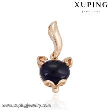 32863 Xuping moderno colgante de oro con incrustaciones de azul oscuro opal imitación jewelley trabajo desde casa