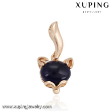 32863 Xuping trendy gold pendant inlaid with dark blue opal imitation jewelley work from home