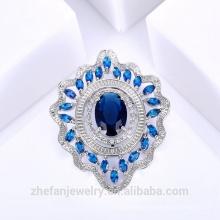 Broche de zafiro oval Broche de traje forma China proveedor