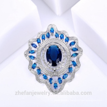 Oval Sapphire Brooch Costume Brooch Form China Supplier