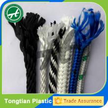 Corde tressée solide de multifilament de polyester de 6mm