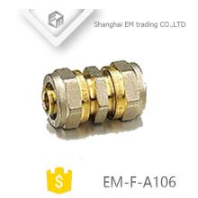 EM-F-A106 Accesorios de tubería de unión latón con conector de compresión recto