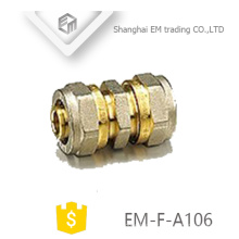 EM-F-A106 Equal raccords à compression droite union en laiton raccord