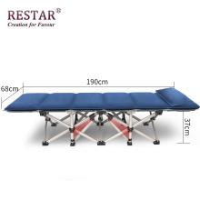 A cama apropriada da mobília do projeto de acampamento da cama de solteiro do berço e a cama exterior podem dobrável