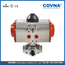 Good quality 3way SUS304 pneumatic ball valve with low price