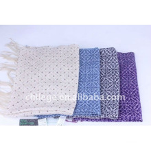 women Spring printed wool and tencel blended scarfs shawls