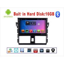 Sistema Android GPS para Toyota Vios 10.1 pulgadas de pantalla táctil con Bluetooth / WiFi / TV / USB