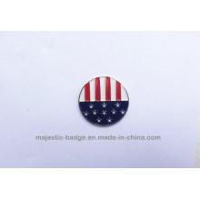 Iron Die Struck Plating Silver Soft Enamel Golf Ball Marker (Hz 1001 G028)