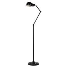 Modern Full Black Steel Floor Standing Lamp (ML6109-B)