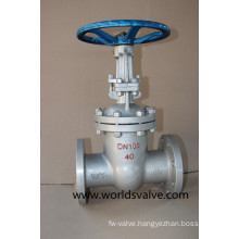 ANSI Worm Gear Wcb Gate Sluice Valve with Flange End (Z45X-10/16)
