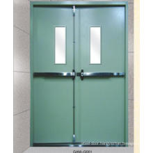 anti- thief fire proof door with glass viewer for industrial use