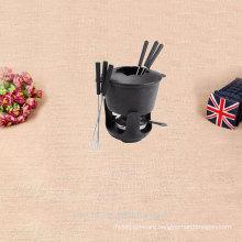 Cast iron fondue sets fire pot for family travel