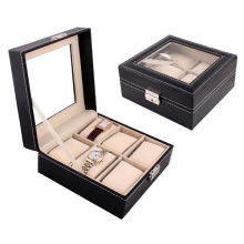 Дисплей черный кожаный 6 сетка часы Чехол (НХ-A0754)