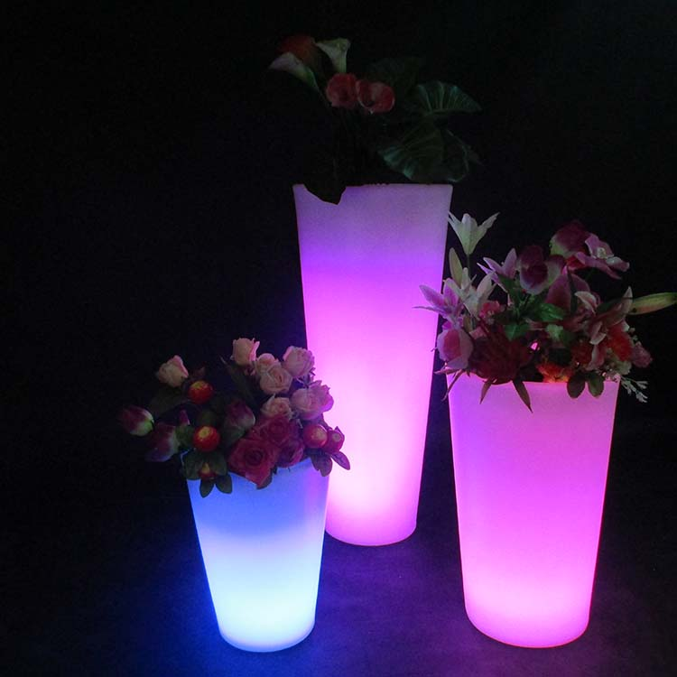 Lighted Planter LED Flower Pot