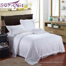 La feuille de lit blanche bon marché d'hôpital de feuille de lit fixe des literies d'hôtel