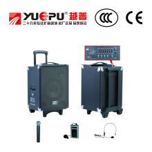 Profesional altavoz PA con SD y USB (dos micrófonos inalámbricos de mano)