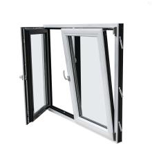 Doppelglas Inswing Aluminium-Kipp- und Drehfenster