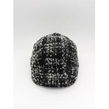 Casquette en couleur noir et blanc en tricot Capuchon Casua IVY de style occidental (YS002)
