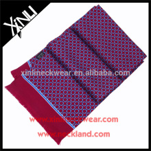 Handmade Tassel Polyester Printed Double Side Skinny Scarf