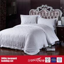Juego de sábanas al por mayor 300TC Jacquard Juego de sábanas del hotel Fine