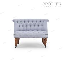 Tissu de meubles de maison de tapisserie d'ameublement tufté haut dossier chaise d'accent pour le salon