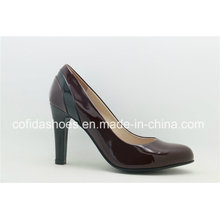 2017 Latest High Heel Leather Lady Office Shoes