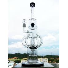 """Hb-K57 """"The Atomic Nucleus"""" 8 Arm Recycler Rocket Form Glas Rauchen Wasser Rohr"""