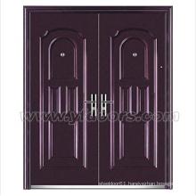 Steel security iron door cheap wrought iron door