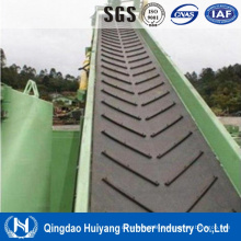 Chevron/Cleat Rubber Conveyor Belt for Hot Sale