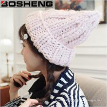 Womens Knit caliente lana de invierno casual lindo sombrero de gorro de esquí
