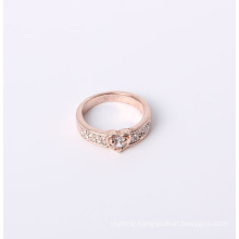 Fashion Jewelry Ring with Rose Gold Plated and Rhinestones