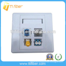 FTTH 1~4 ports SC/FC/LC/ST fiber optic faceplate/wall plate