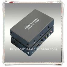 Composite 3 RCA TO HDMI Converter Avec le signal CVBS ou S-video + Audio (L / R) vers HDMI Sortie du signal